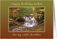 Happy Birthday Wishes for Little Brother, Wagner Waterall in Autumn card