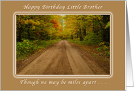Happy Birthday Little Brother, Miles Apart, Country Road card