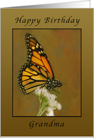 Happy Birthday Monarch Butterfly, Grandma card