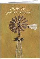 Thank You for the Referral, business,windmill card