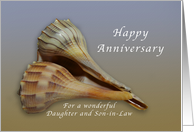 Happy Anniversary Daughter and Son in Law, Seashells card
