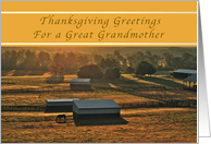 Happy Thanksgiving, For a Great Grandmother, Sunrise on the Farm card