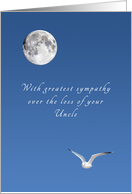 Sympathy on the Loss of Your Uncle, Bird and Moon card