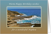 For my Nephew, Happy Birthday wishes, Hanauma Bay, Hawaii card
