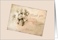 Wedding thank you - Vintage rosebuds card