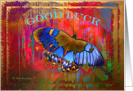 Good Luck - Butterfly dreaming - blank note card