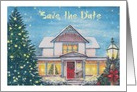Save the Date Christmas Party Invite card
