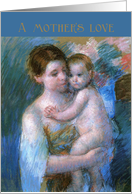 Mary Cassatt Pastel of Mother Holding Her Baby, Baby Shower Card