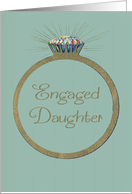 Engagement Congratulations for Daughter Retro Diamond Ring card