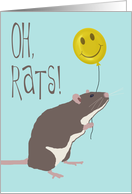 Oh, Rats! I'm Sorry You Were Injured in a Car Accident card