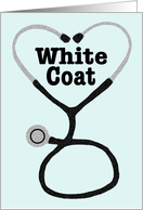 White Coat Ceremony Announcement card