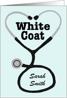 Custom Name White Coat Ceremony Announcement card