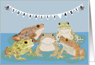 Happy 45th Birthday with Toads card