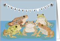 Happy 11th Birthday with Toads card