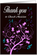 Thank you to church musician card