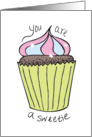 Sweetie Cupcake (You Are a Sweetie, Thank you) card