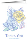 Thank You So Very Much - Flower and Succulent Bouquet card