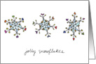 Jolly Snowflakes card