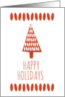 Bean Tree Holiday Card (Red) card