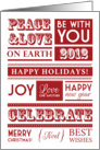 Peace & Love Typography Holiday Card