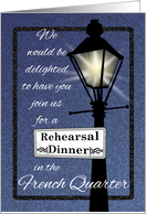 French Quarter New Orleans Rehearsal Dinner Invitation card