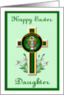 U.S. Army Daughter Easter - Cross & Logo card
