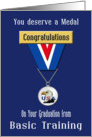 Congratulations Basic Training Graduation, Eagle - USA Medal card
