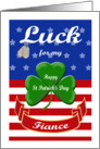 Luck for My Fiance, St. Patrick's Day - Shamrock & Dog Tags card