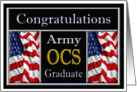 Military Army OCS Graduation - American Flags card