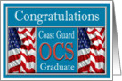 Military Coast Guard OCS Graduation - American Flags card