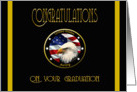 Military Congratulations Army AIT Graduation - Flag & Eagle card
