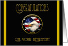 Military Congratulations Army Retirement - Flag & Eagle card