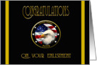 Military Congratulations Army Enlisment - Flag & Eagle card