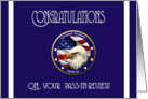 Military Congratulations Graduation Navy Boot Camp Pass-In-Review card