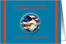 Military Congratulations Coast Guard Enlistment - Eagle & Flag card