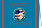 Military Congratulations Coast Guard Promotion - Eagle & Flag card