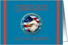 Military Congratulations Coast Guard Retirement - Eagle & Flag card