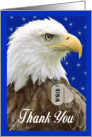 Military Thank You - Eagle with Dog Tags card