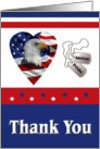Military Thank You, Patriotic Heart Card