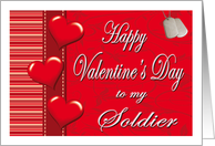 Valentine for My Soldier - Hearts card