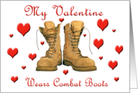 My Valentine Wears Combat Boots - Hearts card