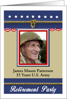 Military Retirement Party Invitation - Photo card