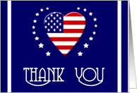 Military Spouse Apprecation Day Thank You - Patriotic Heart card