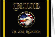 Military Congratulations Army Promotion - Flag & Eagle card
