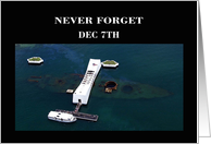Pearl Harbor Day - Aerial view of USS Arizona Memorial card