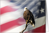 Thank You for your Military Service, Eagle and Flag card