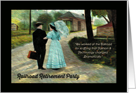 Railroad Retirement Party, Technology & Fashion Changed Dramatically card