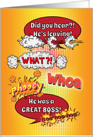 Goodbye, Farewell to a Great Male Boss, Cartoon Style, Humor card