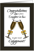 Congratulations Son and Future Daughter-in-law on Your Engagement card
