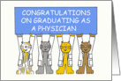 Congratulations on graduating as a physician. card